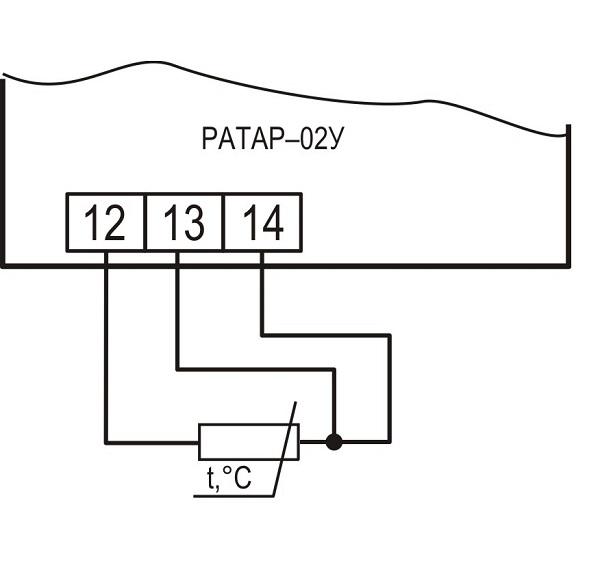 Подключение датчиков температуры к терморегулятору Ратар-02У