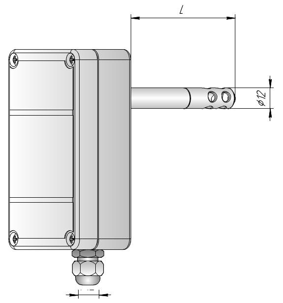 Измеритель влажности канальный ИВИТ-М.RS
