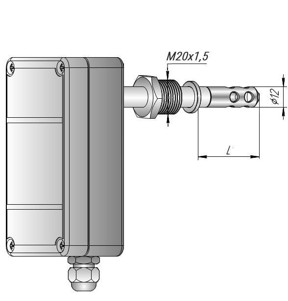 Измеритель влажности канальный со штуцером ИВИТ-М.RS